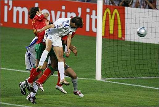 Charisteas heads in the only goal of the final to lead his country to glory