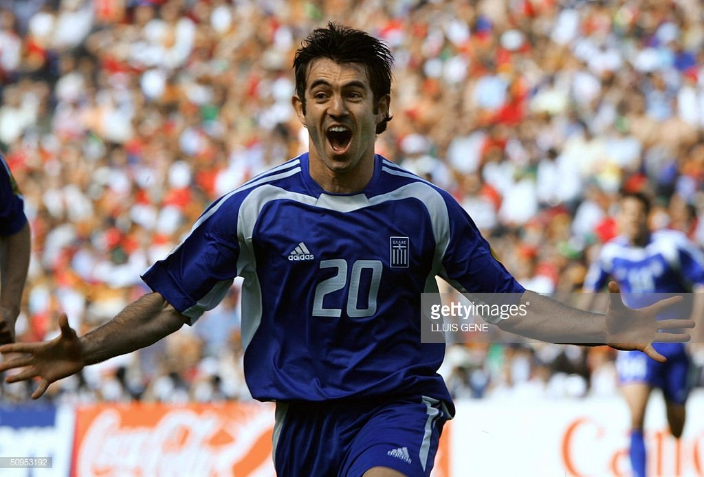 Greek legend Giorgios Karagounis netted his side's first goal against  Portugal in the opening match