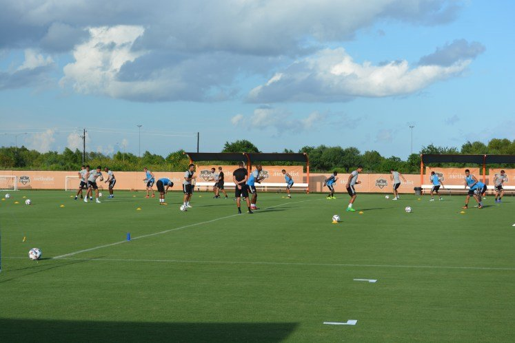 The Houston Dynamo in action